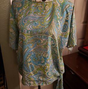 Michael kors paisley blouse